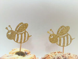 Bee Cupcake Toppers, What Will It Bee Gender Reveal, Spring Party,Bumblebee