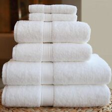 7 Pieces Egyptian Cotton Bath Sheet Set 600GSM White Bath Sheet Bath Towel Hand