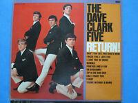 The Dave Clark Five Return 33 1/3 rpm LP album
