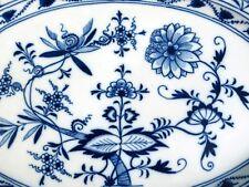 Antique MEISSEN BLUE ONION Oval Crossed Swords Platter 1815 - 1880