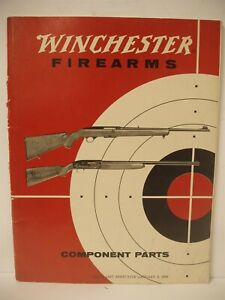 Vintage Winchester Price List Component Parts Firearms Effective January 1962