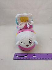 "Shopkins Sneaky Wedge 6"" Plush Toy High Tops Shoe White Pink Yellow Aqua Moose"