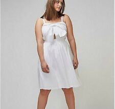 82184768211 New LANE BRYANT  90 White Tie-Front Fit   Flare Dress Sailor Plus Size 22