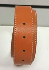 Accessoires orange en cuir pour homme