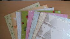 Kartenpapier in verschiedenen Motiven & Stärken 8 Blatt DIN A4 Set 4