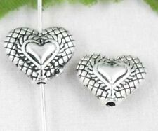 Wholesale 18/39Pcs Tibetan Silver Heart Spacer Beads 12x10mm(Lead-free)