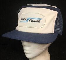 Vtg Huyck Canada Mesh Trucker Hat Snapback Patch Logo Pocket Made In USA Cap