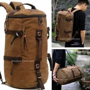 Vintage Men Canvas Backpack Travel Sport Rucksack Satchel School Shoulder Bag CO