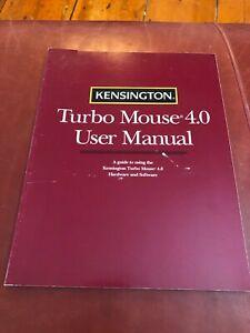 Kensington Turbo Mouse 4.0 User Manual Paperback 1992 Near Fine Condition