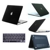 "Black Rubberized Matte Hard Case Cover for MacBook AIR 11"" Pro Retina 13"" 15 12"""