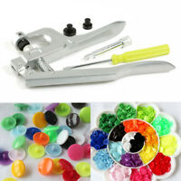 150 Sets 12mm T5 Resin Snaps Buttons With Kam Snap Plier DIY Choose Crafts Cloth