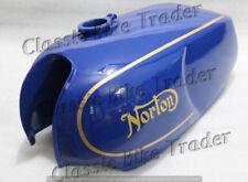 NORTON COMMANDO ROADSTER COMBAT GAS FUEL PETROL TANK BLUE PAINTED