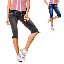 Hailys Damen Capri Jeans Trachten Hose Stretch Casual Oktoberfest