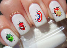 Heroes Nail Art Stickers Transfers Decals Set of 24