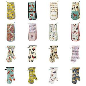 Ulster Weavers Home/Kitchen Cotton Padded Double Oven Gloves Mitts - Various