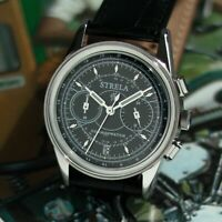 Chronograph STRELA - 40 mm Armbanduhr, EU1.4435 Edelstahl, 1.Spacewalk 1965