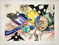 Margarita Bonke Malerei PAINTING Street Art Abstrakt Abstract Sürrealismus Cat