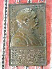 Bruno Kruse Bronzeguss Plakette Amici Berolini Karl Joseph Benjamin Herzog 1897