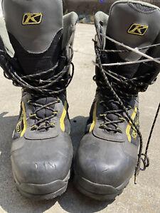 KLIM Gortex Snowmobile Boots Men's Size 11 Thinsulate