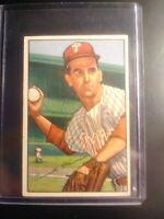 1952 Bowman Philadelphia Phillies Baseball Card #35 Granny Hamner - EX (crease)