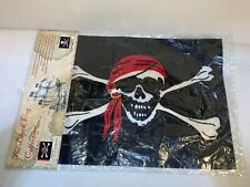12x18 Pirate Red Hat Jolly Roger Flag Skull and Crossbones Boat Flag New