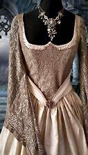 Medieval Renaissance Gothic silk wedding dress - vintage design room sample