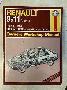 Renault 9 & 11 Haynes Workshop Manual 1982-88