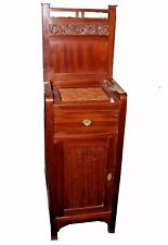 Antique American Victorian Mahogany Washstand, Rose Marble Top
