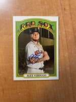 2021 Topps Heritage - Alex Verdugo - Real One On Card Auto RED SOX