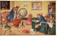 Animal Fantasy Racey Helps Classroom Around the World Medici Pk 277 Postcard