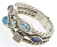 DAVID YURMAN Iolite, Topaz, & Diamond Confetti Ring in Sterling Silver