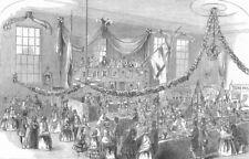 LANCS. Exhibition, Temperance Hall, Bolton, antique print, 1852