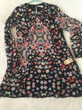 NWT RACHEL Roy Floral Shift Dress Long Sleeve Tunic Dress Anthropologie Sz M