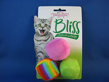 Cat Toy - Bliss Soft Cube Balls with Natural Catnip - 3 pack