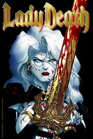 Lady Death #1 The Reckoning GOLD FOIL 25th Anniversary   Ltd. Ed. Comic Book