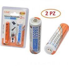 Confezione 2 Pile Batterie Ricaricabili Al Litio 18650 3200mAH 3.7V Linq 3200jt