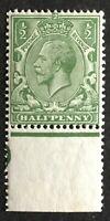 1913. 1/2d. DULL YELLOW GREEN.  N14(-).  UNMOUNTED MINT MARGINAL