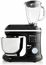 Sensio Home 1000W Food Stand Mixer & Blender 4.5L Mixing Bowl 6 Speeds Glass Jug
