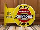 Chevrolet Genuine Parts Vintage Style Flange Garage Man Cave Metal Signs 1