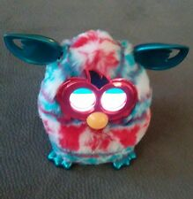 """6"""" Furby Boom 2012 Festive Holiday Sweater Red White Blue Works Blue ears"""