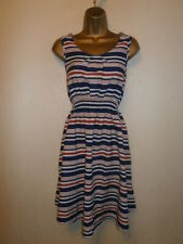 New Look Maternity - Red, White and Blue Striped Skater Dress - UK 10 / EU 38
