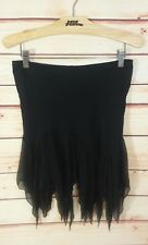Betsey Johnson Womens Skirt Silk Black Trumpet Mini 90's Size 6 Medium