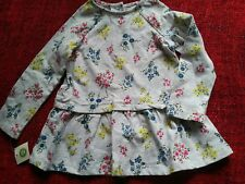 NEW 24m Little Me Floral Tunic girls toddler baby 18-24 shirt top NWT long sleev