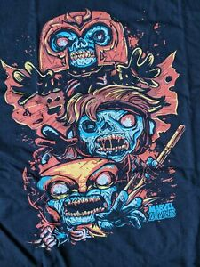 Funko POP Marvel Zombies Gambit Magneto Wolverine Collector Corps T-Shirt