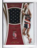2015-16 Clyde Drexler #/75 Jersey Panini Immaculate Blazers ST-CLD