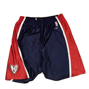 Vintage New Jersey Nets Team Nike NBA Embroidered Basketball Shorts Size Large