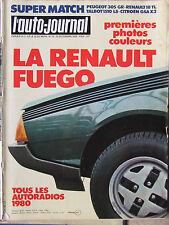 L'AUTO JOURNAL N°22 (15 déc 1979) Renault Fuego - Jaguar XJ6 A - Citroën Gs R18
