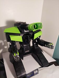 New Bright  RC MECH Robo Cannon Robot Toy - Green/Black - No Controller - WORKS!