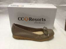 ladies slip on shoes CC Resorts Virginia taupe size 9