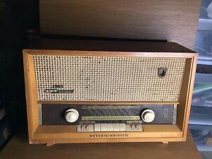 Grundig Majestic 2065 Tube Radio Germany 1950's Powers Up